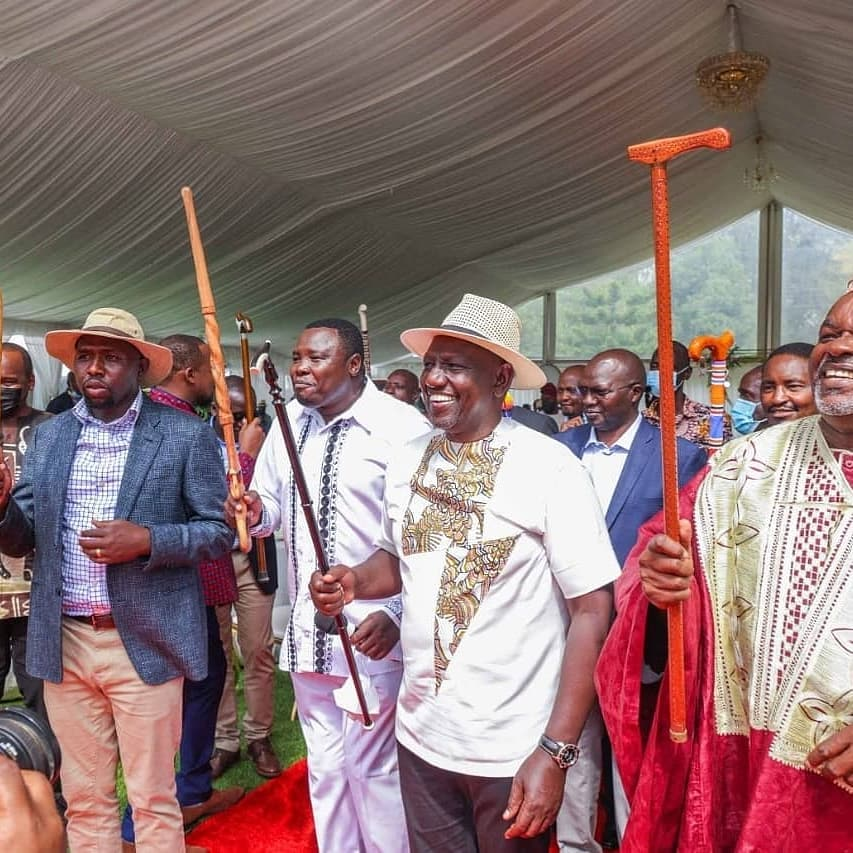 William Ruto at his daughter's engagement party