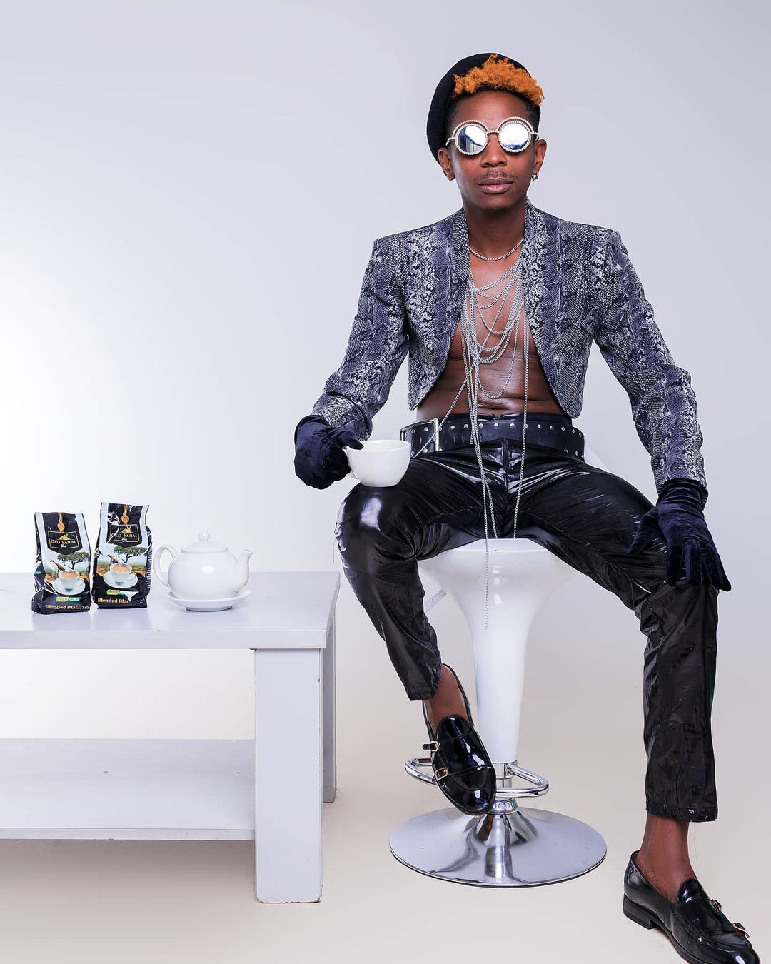 Eric Omondi in his new outfits