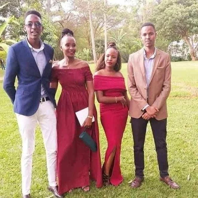 Esther Musila with her 3 kids
